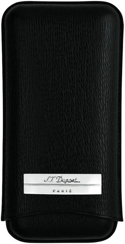 S.T. Dupont Leather Adjustable 3 Cigar Case Black by S.T. Dupont (Image #1)
