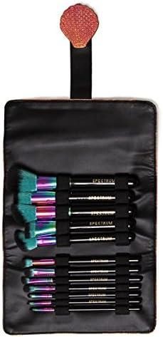 Spectrum - Juego de manta enrollable y brochas de maquillaje (12 ...