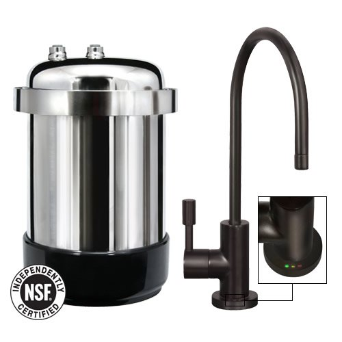 WaterChef U9000 Premium Under-Sink Water Filtration System with Intelligent Monitor (Oil-Rubbed Bronze Designer Faucet) by WaterChef®