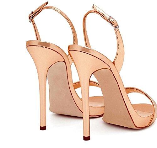Escarpins Party Sandales 44 EU43 xie Femmes Club Taille Stiletto à CHAMPAGNE Robe Escarpins 35 Chaussures YnqgwF