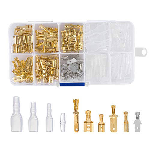 ZOEON 150Pcs Crimp Connector Wire Butt Spade Connector Assortment Spade Terminal Kit Crimp Terminal Cable Connector with Insulating Sleeve: Amazon.co.uk: DIY & Tools