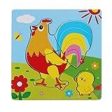 Gbell Wooden Rockets & Animals Puzzle Set for Preschool Toddler Boys Girls,Cute Jigsaw Board...