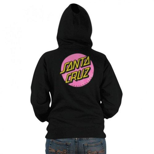 Santa Cruz Girls Other Dot Hoody Zip Sweatshirt Medium Black
