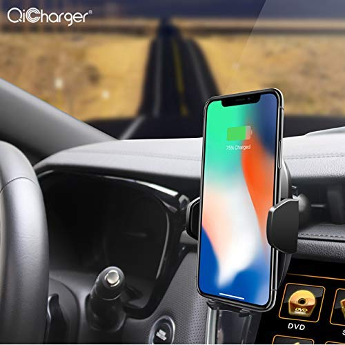 Infrared Sensor Automatic Clamping 360 Rotate Magnetic QI Smart Wireless Fast Phone Car Charger CSVC Intelligent Technology