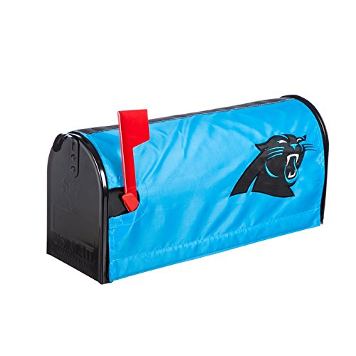 Ashley Gifts Customizable Embroidered Applique Fabric NFL Mailbox Cover, Carolina Panthers ()