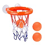 Bathtub Basketball Hoop and 3 Balls for Kids Suction AZDENT Baby Bath Toys Gift Sets
