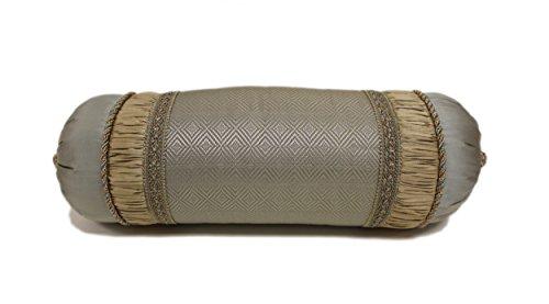 Austin Horn Classics Duchess Neckroll Pillow, Aqua Gold