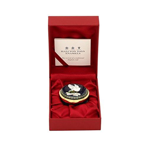 Halcyon Days, Christmas 2017 Dove of Peace Enamel Box w/Inside Inscription, 24K Gold Fittings, Gift Box by Halcyon Days (Image #4)