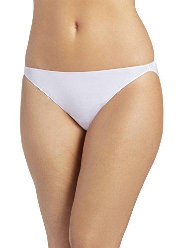 Jockey Women's Underwear No Panty Line Promise Tactel String Bikini, White, 7 (Bikini String White Panty)