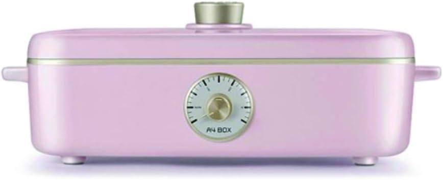 VOTO A4Box Retro Electric Grill Multi Cooker for Pancakes, Steak, 220V, 60Hz (Pink)