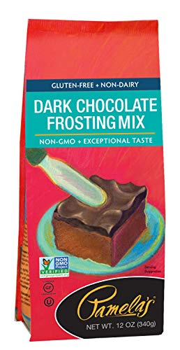 Pamela's Products Gluten Free Frosting Mix, Dark Chocolate, 12-Ounce Bags (Pack of 6) (Best Chocolate Fudge Frosting)