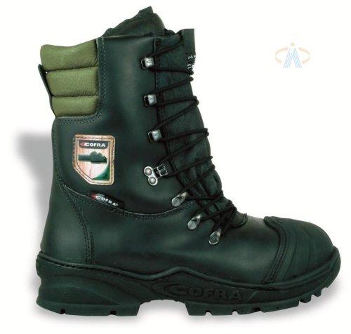Cofra Forstarbeiter Schnittschutz-Stiefel Power, Sägeschutz Klasse 2, Größe 43, schwarz, 21500-000