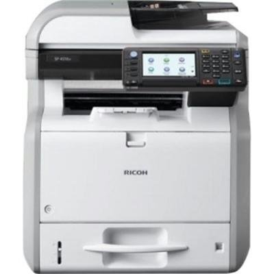 Ricoh Aficio SP 4510SF LED Multifunction Printer - Monochrome - Plain Paper Print - Desktop - Copier/Fax/Printer/Scanner - 42 ppm Mono Print - 1200 x 1200 dpi Print - 42 cpm Mono Copy - Touchscreen LCD - 600 dpi Optical Scan - Automatic Duplex Print - 600 sheets Input - Gigabit Ethernet - USB - 407302