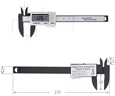 Zixin Electronic Digital Display Vernier Caliper Full Plastic Mini Caliper DIY Measurement 0-100mm (Size : 0-100mm)