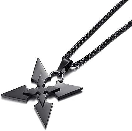 Amazon.com: AkinaWay Ninja Shuriken Throwing Star Stainless Steel Necklace:  Toys & Games