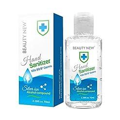 Topunk 70ML Alcohol Hand Sanitizer Gel, Anti-Bacterial Kills 99.9% Common Germ Kill Soap Liquid Dispenser Cleanser