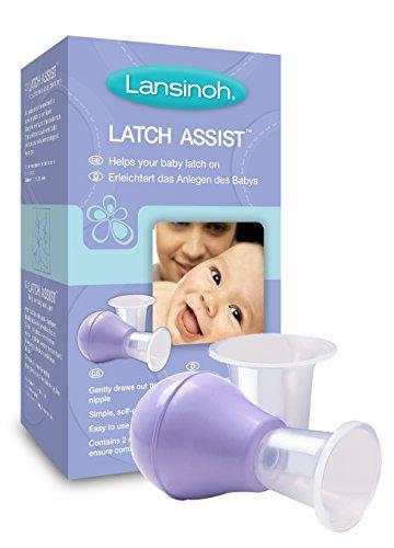 Lansinoh 70180 Latch Assist, Stillhelfer, inklusiv Trichter in zwei Größen