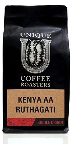 Kenya AA - Whole Bean - Unique Coffee Roasters - (2) 12oz. Bags - 24oz. Pack …