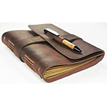 Leather Journal Diary with Bamboo Pen by case Elegance …