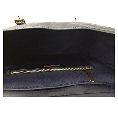 HAVILAND algodón mod azul VOILA' de MILANO encerado de hombre CARTERA bolsa dqwzqB
