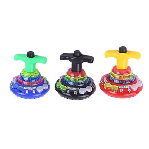 KODORIA 3pcs Flashing Spinning Top LED Shining Toys Kids Toys Birthday Gift for Kids - Assortment