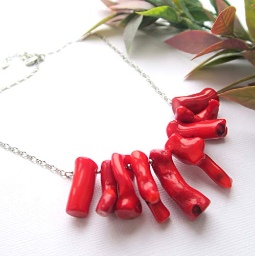 Coral branch necklaces