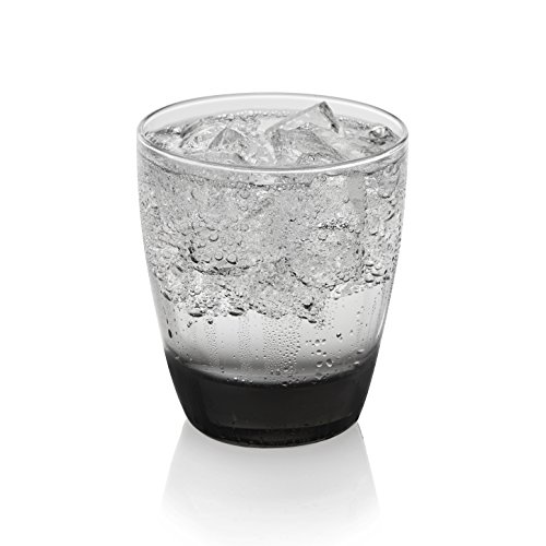Libbey Classic Smoke Rocks Glasses, Set of 12
