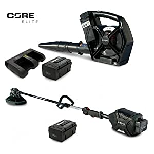 CORE E400 & E420 ELITE TRIMMER & LEAF BLOWER 2-Battery 1-45-Minute Dual Charger