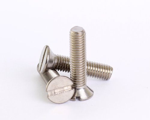 Bolt Base 3mm A2 Stainless Steel Slotted Countersunk Machine Screws Bolts M3 X 4 - 100 by Bolt Base