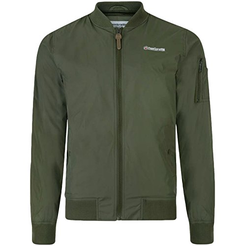 Lambretta Mens MA1 Slim Fit Bomber Jacket - Khaki - L