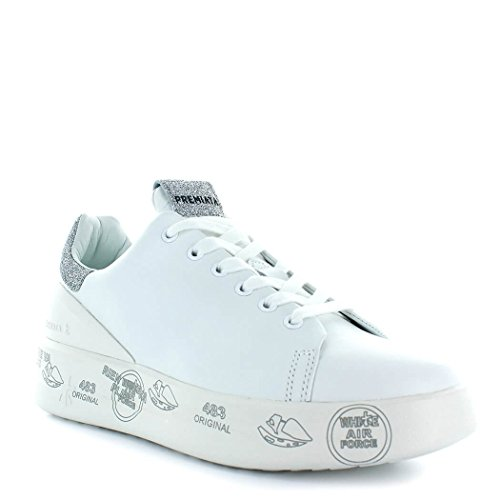 Pelle Bianco Donna Belle3014 Premiata Sneakers Pnf47Uqtx