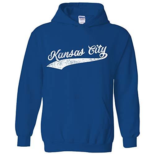 Kansas City Baseball Script - Hometown Pride, Pitcher Hoodie - Small - Royal