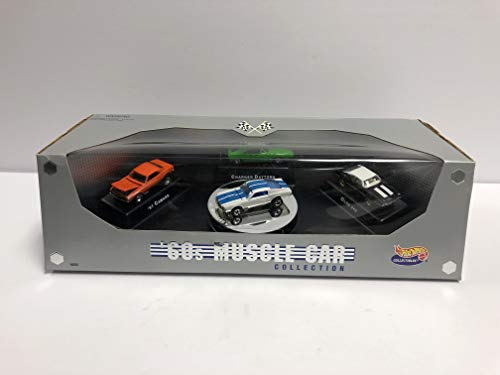 '60s MUSCLE CAR Collection 1996 Mattel Hot Wheels with '67 Mustang '67 Camaro Charger Daytona Olds 442