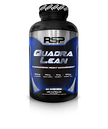 RSP QuadraLean Thermogenic, Fat Burner, Energy, Weight Management (180 Capsules, 60 Servings)