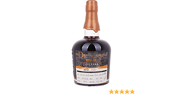 Dictador Best of 1980 Extremo Limited Release Rum - 700 ml ...