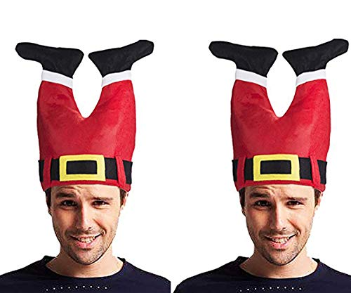 Santa Christmas Hat - Funny Hat Novelty Santa Hat Crazy Hats Santa Pants Hat Christmas Accessories -