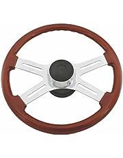 Woody's WP-SWPB9801 Rosewood Chrome Truck Steering Wheel (Beautiful African Hardwood)