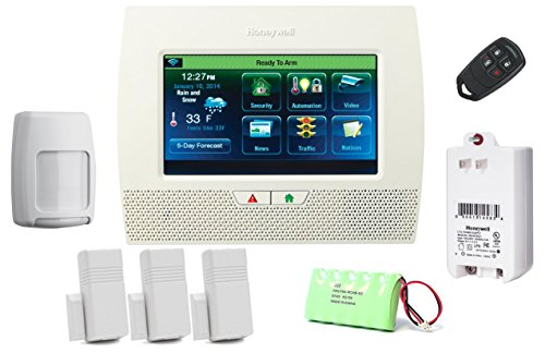 Honeywell Lynx Touch L7000 Starter Kit - LYNX Touch Wireless Security Alarm with (3) 5816WMWH Door/Window (Honeywell Home Security Systems)