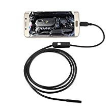 Happy Hours - 7mm Lens 1.3MP Cellphone Endoscope for Android / 6 Leds Waterproof Inspection Tube Borescope Camera with Micro to USB Line(1.0 Meter)