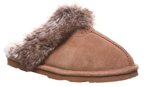 Bag Leather Shoe Embossed (BEARPAW Women's Loki Ii Slide Slipper (10 B(M) US, Hickory Tipped))