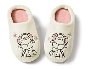 Nici Jolly Sven 32565 - Zapatillas de andar por casa, diseño oveja, talla S, color beige [importado de Alemania]