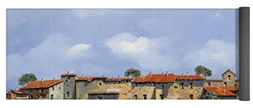 Pixels Yoga Mat w/ Bag ''Paesaggio Aperto'' by Pixels