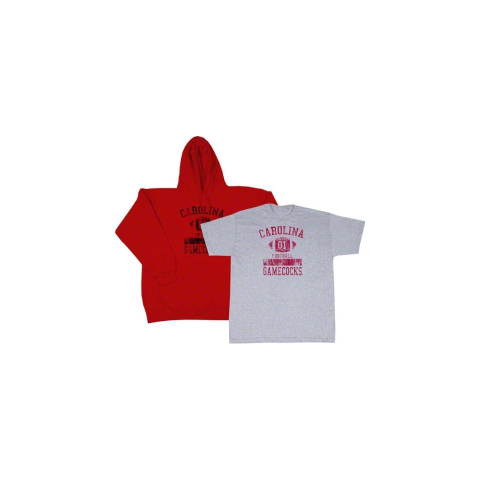 South Carolina Gamecocks Cardinal Hooded Sweatshirt/T Shirt Combo Pack