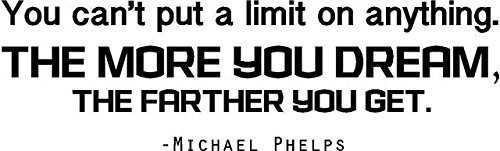 Michael Phelps Vinyl Wall Decal - USA Olympics Pick and Peel Sticker - Swimming Quote - 20''x5'' [FBA OL3]