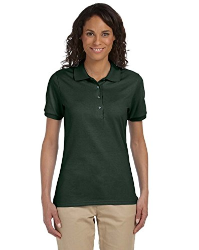 437W Ladies 50/50 Jersey Polo_Forest Green_S_pack2