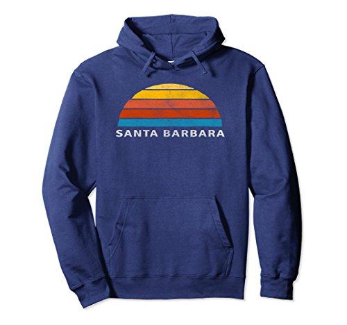 Unisex Santa Barbara Retro Sunset Hoodie 2XL Navy ()