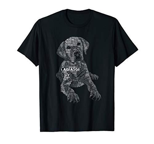 Yellow Chocolate Black Labrador Retriever - Caligram T Shirt