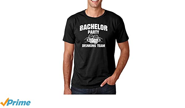 55d36774 Amazon.com: Wedding Eve - Bachelor Party Drinking Team Funny Stag Gift  Novelty Premium Men's T-Shirt: Clothing