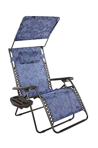 "Bliss Hammocks XXL 33""W Gravity Free Recliner W/ Canopy & Tr"