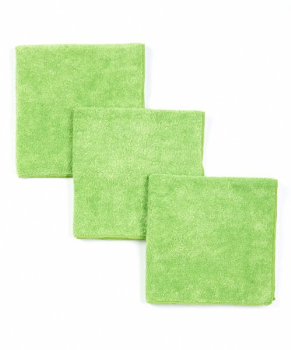 DRI Automotive Super Shine KTL Microfiber Waxing and Buffing Cloths (Green-3 (Ultimate Buffing Cloth)